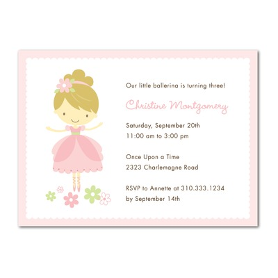 Ballerina Invitations to Knock the Guests off Their Feet