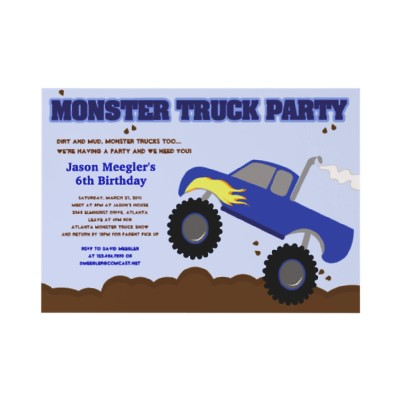 Monster Truck Birthday Invitations Make Your Celebrations